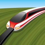 Vector illustration. Train. Royalty Free Stock Images