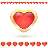 Vector illustration with translucent red heart  Stock Photos