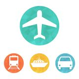 Vector illustration of transport icons Stock Photo