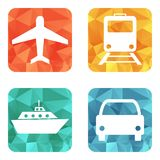 Vector illustration of transport icons Royalty Free Stock Image