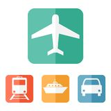 Vector illustration of transport related icons Royalty Free Stock Image