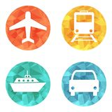 Vector illustration of transport related icons Royalty Free Stock Photography