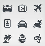Travel icon set Stock Photography