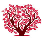 Vector illustration of tree with branches in the shape of heart Stock Photo