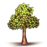 Vector illustration of tree Royalty Free Stock Images