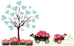 Vector illustration of tree with heart Stock Photography