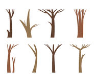Vector illustration tree trunk. Royalty Free Stock Image