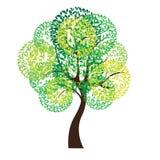 Vector illustration of tree on white background - Illustration Royalty Free Stock Photography