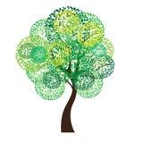 Vector illustration of tree on white background - Illustration. R illustration of tree on white background - Illustration Royalty Free Stock Photos