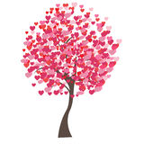 Vector illustration of tree on white background - Royalty Free Stock Images