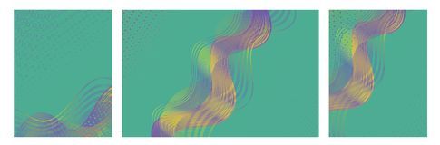 Vector illustration with trendy colorful abstract design for brochures, posters, presentations and banners. stock images