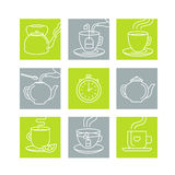 Vector illustration in trendy linear style Stock Image