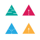 Vector illustration triangle arrow logo symbol Royalty Free Stock Images