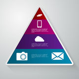 Vector illustration of a triangle with the sectors Stock Photos