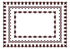 Vector illustration of tribal borders inspired by African arts royalty free illustration