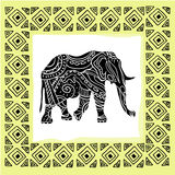 Vector illustration of a tribal totem animal Stock Image