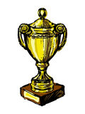 Vector illustration of Trophy cup Royalty Free Stock Photo