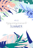 Vector illustration Tropical floral summer party poster Stock Image