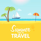 Vector illustration of the tropical. Summer time. Royalty Free Stock Photo
