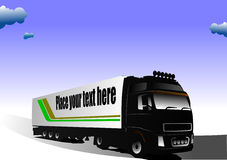 Vector illustration of truck Stock Image