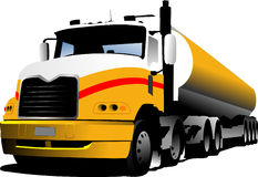 Vector illustration of truck Royalty Free Stock Image