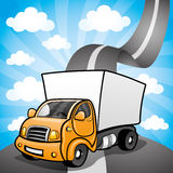 Vector illustration. Truck. Royalty Free Stock Photo