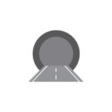 Vector illustration of the tunnel. Vector illustration of the tunnel isolated Stock Photo