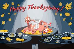 Vector illustration of a turkey royalty free illustration