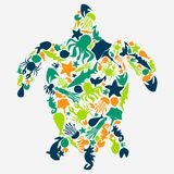 Vector illustration of turtles Royalty Free Stock Photography