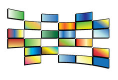 Vector illustration of tv screens. Vector illustration of color tv screens royalty free illustration