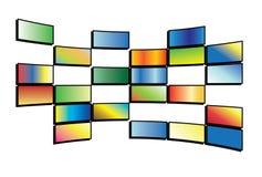 Vector illustration of tv screens. Vector illustration of color tv screens Royalty Free Stock Photos