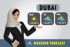 Vector illustration of a TV weather reporter at work Stock Images