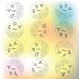 Zodiac glossary blur Stock Images