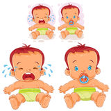Vector illustration two baby in diapers vector illustration