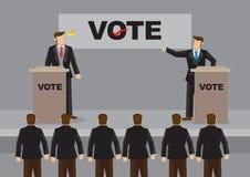 Fiery Election Debate Cartoon Vector Illustration Stock Images