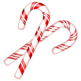 Vector illustration of two candy cane Stock Image