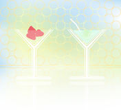 Vector illustration of two cocktail goblets on tab Stock Photo