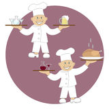 Vector illustration two cooks Stock Photos