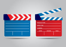 Vector illustration of two film clappers isolated on white. EPS Royalty Free Stock Photos