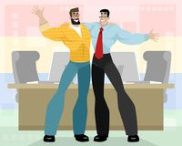 Two friendly business partners. Vector illustration of two friendly business partners Stock Images
