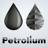 Vector illustration of two petroleum black drop Stock Image