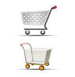 Vector Illustration of Two Shopping Trolley or Shopping Cart Icon Stock Photography