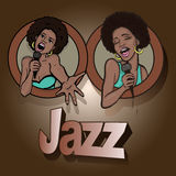 Vector illustration of a two singing Royalty Free Stock Photography