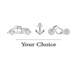Vector illustration of type of transport to choose from stock illustration