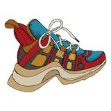 Sneakers 1 royalty free illustration