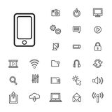 Vector Illustration UI Technology Icon Concept Stock Photography
