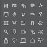 Vector Illustration UI Technology Icon Concept Royalty Free Stock Images