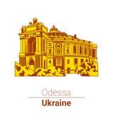 Vector illustration. Ukraine. Odessa. Opera house, theater Stock Image