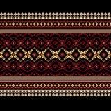 Vector illustration of ukrainian folk seamless pat Royalty Free Stock Photos