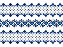 Vector illustration of ukrainian folk seamless pat Stock Photos